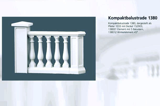 Kompaktbalustrade