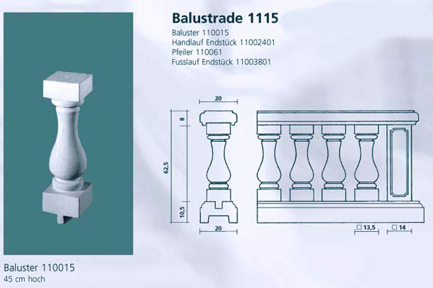 Beton Balustrade