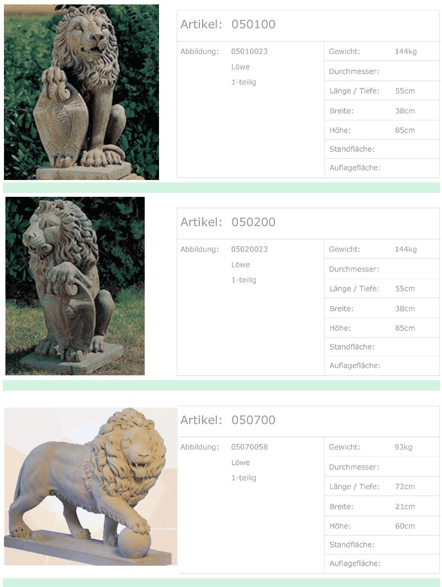 Tierstatuen ◇ Tierfiguren ◇ Löwen, Katzen, Eulen aus Beton für Ideen