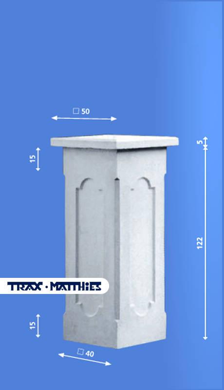 Zaunpfeiler Torpfeiler Zaunsaulen Aus Beton Pfeiler Pfeileraufsatz
